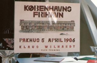 Akademiets flotte tegneatelier og studio i Københavns Havn 2004.